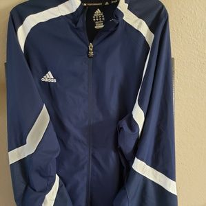 Adidas XL Navy Clima Windbreaker Jacket, Men's